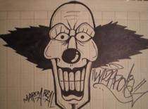 Jak narysować klauna z wielkim uśmiechem