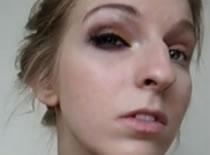 Jak wykonać smokey eye z żółtym i fioletowym cieniem