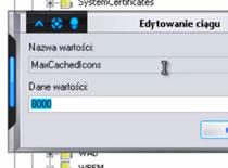 Jak zwiększyć bufor przechowywanych ikon i jego czyszczenie