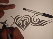 Jak rysować tribale - serce