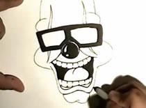 Jak narysować klowna w okularach