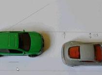 Jak wykonać parkowanie równoległe - ustawienie końcowe