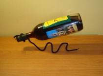 Jak zrobić stojak na wino ze sznurka