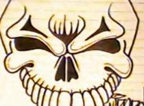 Jak narysować czaszkę z dużymi zębami