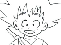 Jak narysować Son Goku z Dragon Ball