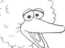Jak narysować Wielkiego Ptaka z Ulicy Sezamkowej