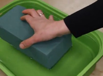Jak stosować mokrą gąbkę florystyczną