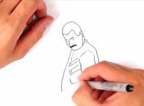 Jak narysować mema So Close (Freddie Mercury)