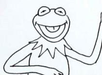 Jak narysować żabę Kermita