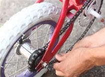 Jak odpicować rower dla dziecka - błyszczący brokat
