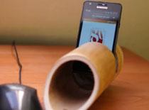Jak zrobić głośnik do smartfona z bambusa