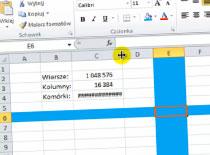 Jak opanować Excel 2010 #4 - kolumny i wiersze