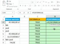 Jak korzystać z Excel 2013 #6 - Isformula