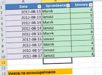 Jak korzystać z autouzupełniania w Excel 2010