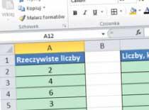 Jak pracować w Excel 2010 - uwaga na przecinki