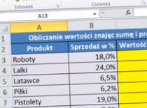 Jak pracować w Excel 2010 - procent i działania z procentami