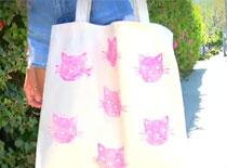Jak zrobić opaskę do włosów i malowaną torbę