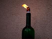 Jak zrobić lampę naftową z butelki od wina