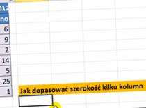 Jak dopasować szerokość kilku kolumn jednocześnie w Excel 2010