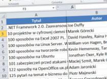 Jak błyskawicznie wypełniać tabele w Excel 2010