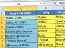 Jak dzielić tekst w Excel 2010