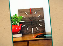 Jak zrobić zegar ścienny w drewnianym stylu
