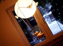 Jak zrobić lampę - balon z misiem