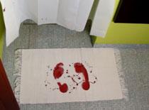 Jak zrobić krwawy chodniczek łazienkowy