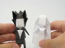 Jak zrobić figurkę pana młodego z papieru