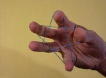 Jak ułożyć pentagram z gumki tylko jedną ręką
