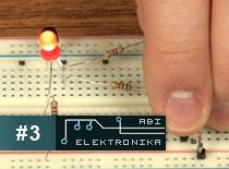 Jak zostać elektronikiem #3 - obwód z LED uruchamiany palcem