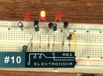 Jak zostać elektronikiem #10 - diody migające w rzędzie