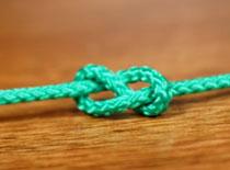 Jak wiązać węzeł - ósemka