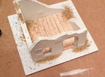 Jak zrobić makietę do gier bitewnych #6 Osgiliath ruiny budynku