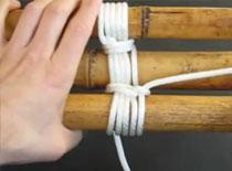 Jak zrobić statyw trójnóg z kijków bambusowych i liny