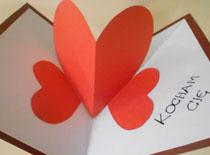 Jak zrobić kartkę walentynkową na trzech sercach
