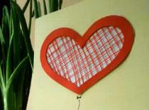 Jak zrobić kartkę walentynkową z użyciem nici