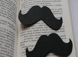 Jak zrobić zakładkę do książki w kształcie wąsów