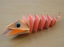 Jak zrobić zabawkę - jaszczurka z papieru