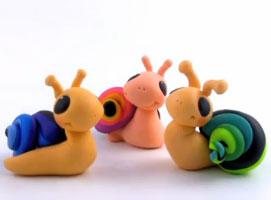 Jak zrobić ślimaka z kolorową skorupą z modeliny