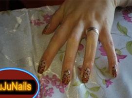 Jak pomalować paznokcie - panterka