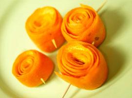 Jak zrobić różyczki z pomarańczy