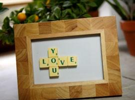 Jak zrobić miłosny upominek ze Scrabble