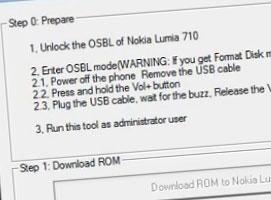Jak odblokować system w Nokia Lumia 710, 800 i 900