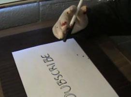 Jak zrobić żart z krwistym długopisem