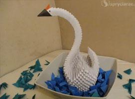 Jak wykonać żurawia z koroną - origami 3D