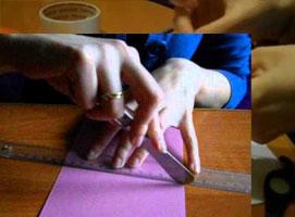 Jak równo złożyć grubą kartkę aby nie pękła na zgięciach