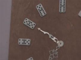 Jak zrobić zegar z domino