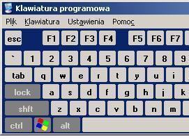 Jak włączyć i korzystać z klawiatury programowej w Windows XP