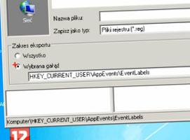 Jak wykonać eksport klucza rejestru systemu Windows 7
